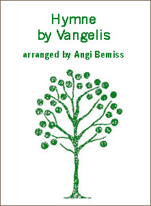 Hymne by Vangelis sheet music arranged by Angi Bemiss