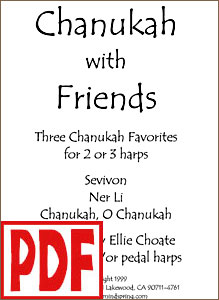 Score of Chanukah with Friends by Ellie Choate PDF Download