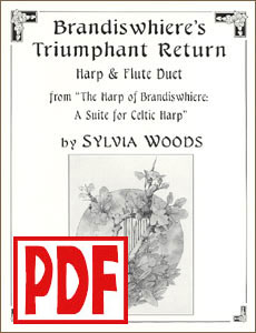 Brandiswhiere's Triumphant Return for harp and flute  by Sylvia Woods PDF Download