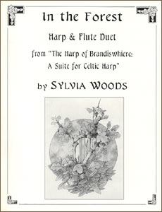 In the Forest sheet music for harp and flute