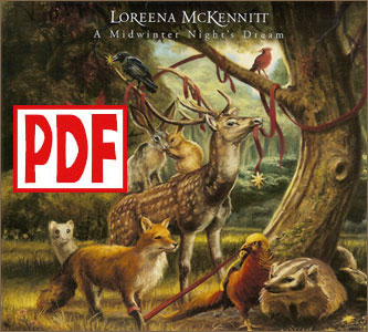 PDF DOWNLOADS from A Midwinter Night's Dream by Loreena McKennitt