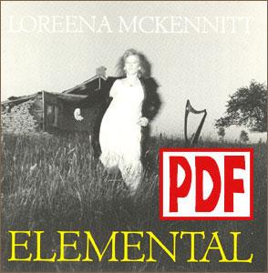 PDF DOWNLOADS from Elemental by Loreena McKennitt