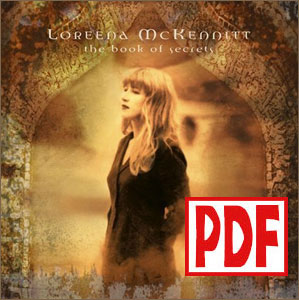 PDF DOWNLOADS from The Book of Secrets by Loreena McKennitt