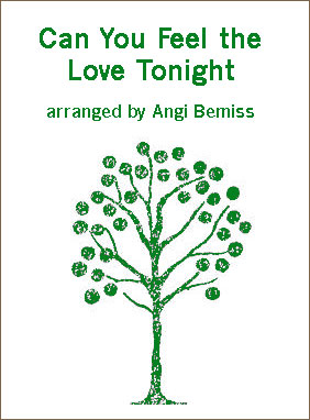 Can You Feel the Love Tonight sheet music arranged by Angi Bemiss