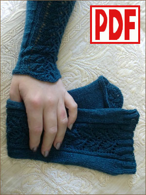 PDF PATTERN for Knitting Arm Warmers