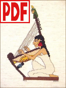 Egyptian Harper Cross-Stitch PDF PATTERN