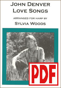John Denver Love Songs for the Harp by Sylvia Woods PDF Download