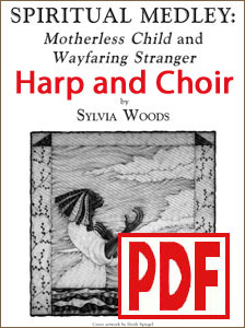 Spiritual Medley for Harp and Choir by Sylvia Woods PDF Download