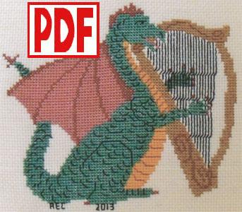 Dragon Lullaby Cross-Stitch PDF PATTERN