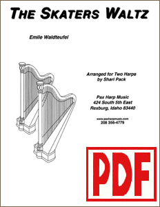 Skater's Waltz for 2 Harps by Shari Pack PDF Download
