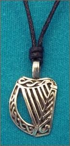 Celtic Legends Pewter Harp Choker