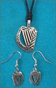 Celtic Legends Pewter Choker & Earrings Set