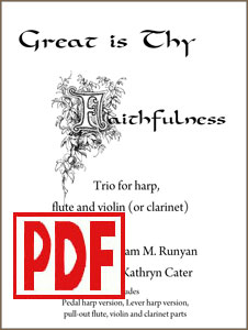 Great is Thy Faithfulness trio by Kathryn Cater PDF Download