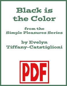 Black is the Color arranged by Evelyn Tiffany-Castiglioni PDF Download