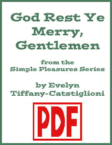 God Rest Ye Merry Gentlemen arranged by Evelyn 