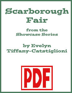 Scarborough Fair Showcase Edition arranged by Evelyn Tiffany-Castiglioni PDF Download