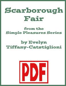 Scarborough Fair Simple Edition arranged by Evelyn  Tiffany-Castiglioni PDF Download