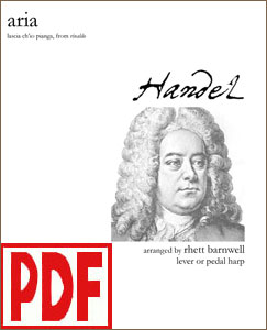 Lascia ch'io pianga Aria by Handel arranged by Rhett Barnwell <span class='red'>PDF Download</span>