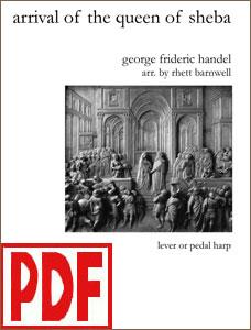 Arrival of the Queen of Sheba by Handel arranged by Rhett Barnwell PDF Download