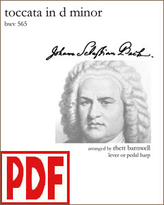 Tocatta in D Minor by Bach arranged by Rhett Barnwell <span class='red'>PDF Download</span>