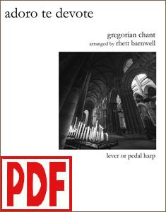Adoro Te Devote arranged by Rhett Barnwell PDF Download