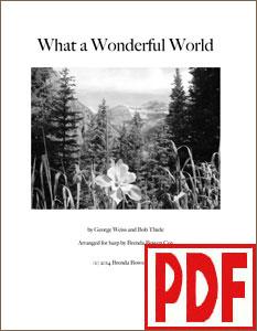 What a Wonderful World arranged by Brenda Bowen Cox  PDF Download