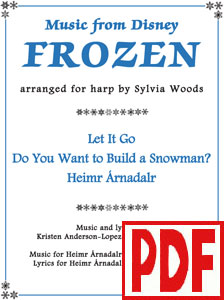 Music from Disney's FROZEN arranged for harp by Sylvia Woods PDF Download