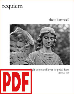Requiem for harp and high voice by Rhett Barnwell PDF Download