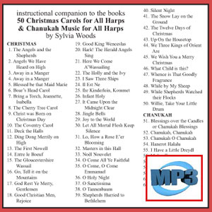 Companion to 50 Christmas Carols AND Chanukah Music by Sylvia Woods - mp3 Download