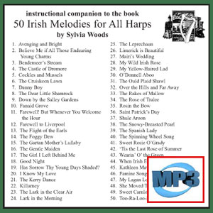 Companion to 50 Irish Melodies by Sylvia Woods - mp3 Download