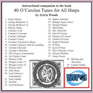 Companion to 40 O'Carolan Tunes by Sylvia Woods  - mp3 Download