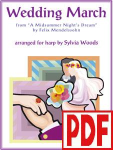 Mendelssohn's Wedding March arranged by Sylvia Woods PDF Download
