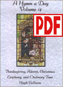 A Hymn a Day Volume 4 (Advent and Christmas) by Hugh Callison PDF Download