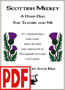 Scottish Medley for Teacher and Me Harp Duo by Joyce Rice PDF Download
