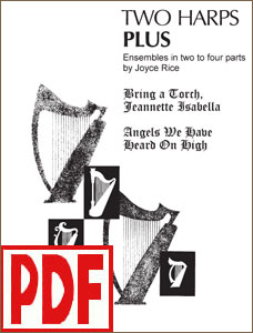 Two Harps Plus - Christmas: Bring a Torch and Angels We Have Heard on High by Joyce Rice PDF Download