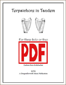 Terpsichore in Tandem for harp solo or duo by Darhon Rees-Rohrbacher PDF Download