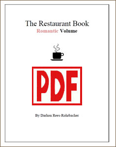 Restaurant Book - Romantic Volume, arranged by Darhon Rees-Rohrbacher PDF Download