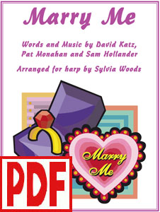 Marry Me by Pat Monahan of Train arranged for harp by Sylvia Woods PDF Download