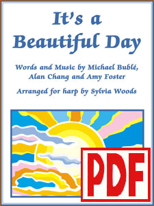 It's a Beautiful Day by Michael Buble arranged for harp by Sylvia Woods PDF Download