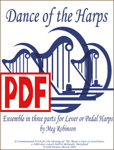 Dance of the Harps for harp ensemble by Meg Robinson PDF Download