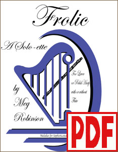 Frolic by Meg Robinson for harp solo or harp and flute PDF Download