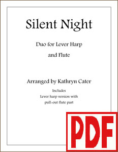Silent Night LEVER Harp and Flute Duo by Kathryn Cater