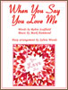 When You Say You Love Me arranged for harp by Sylvia Woods Sheet Music