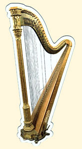 Harp Magnet with Broken Strings