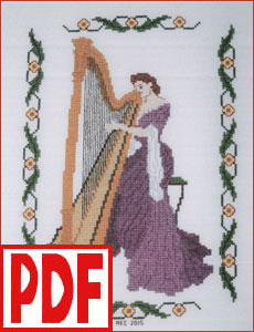 Concerto in Lilac Cross-Stitch PDF PATTERN