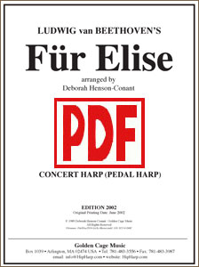 Fur Elise for pedal harp by Deborah Henson-Conant <span class='red'>PDF Download</span>