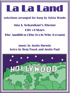 La La Land selections arranged for harp by Sylvia Woods Sheet Music