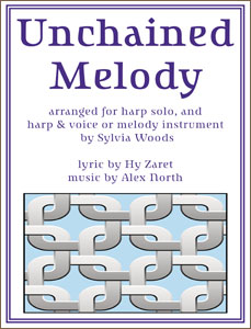 Unchained Melody arranged for harp by Sylvia Woods Sheet Music