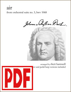 Air on the G String by J. S. Bach arranged by Rhett Barnwell  PDF Download