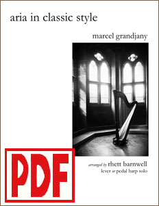 Aria in Classic Style by Marcel Grandjany arranged by Rhett Barnwell  PDF Download